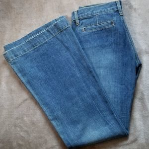 Old Navy Ultra Low Waist Flare Blue Jeans Size 4